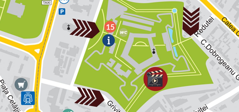 Harta acces Cinema in Parcul Cetatii