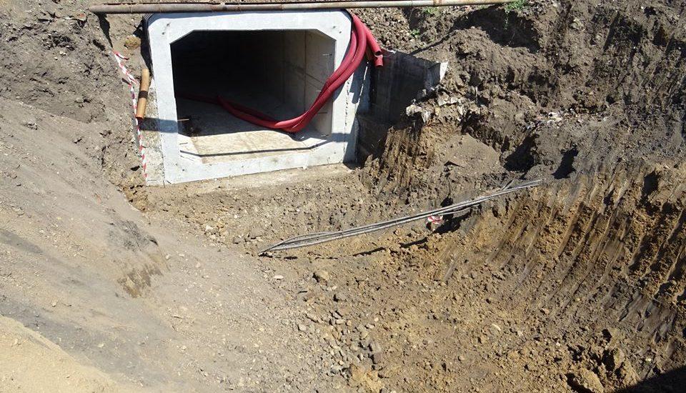 Lucrările la pasajul subteran pietonal din Oncea avansează