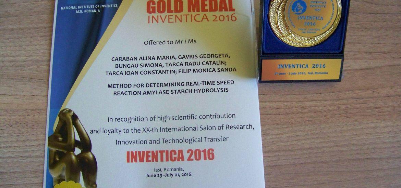 Premii Universitatea Ordea Salon Inventica Iasi 2016