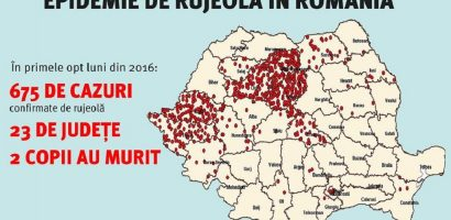 Epidemie de rujeola in Romania, in judetul Bihor avem un singur caz