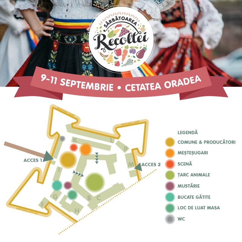 Harta locatie Sarbatoarea Recoltei Oradea