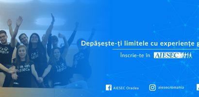 Organizația studențească AIESEC Oradea recrutează noi membri