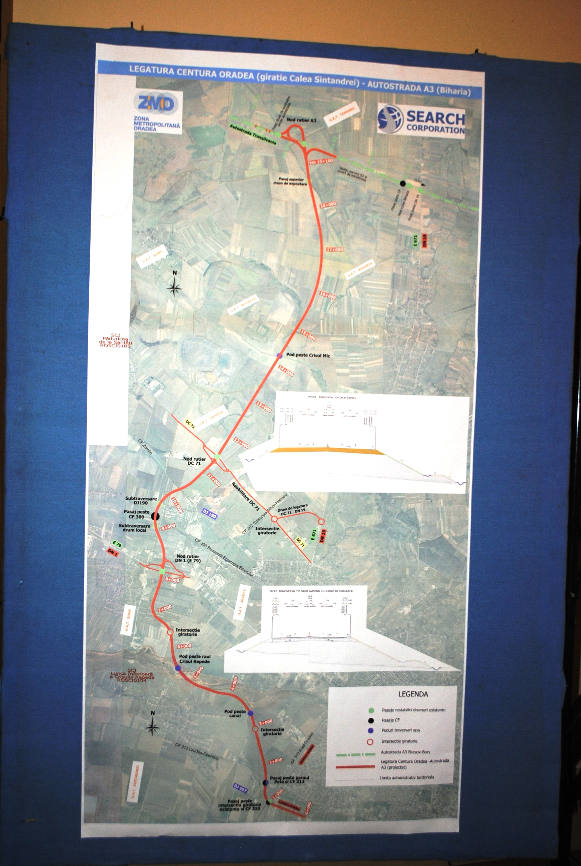 Harta sosea legatura Oradea - A3