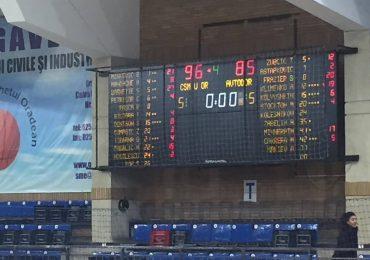CSM CSU Oradea la prima victorie in grupele Basketball Champions League. FOTO