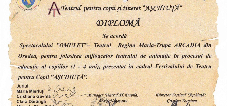 Fantezia si magia din povestile Teatrului Arcadia, le-au adus 2 diplome nationale in 2016