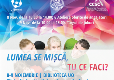 Zilele Carierei pentru studenţi şi absolvenţi. Targ de joburi pentru studentii Universitatii Oradea