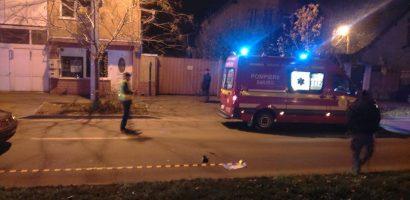 Pieton accidentat pe trecerea de pietoni, pe Str. Onestilor din Oradea. FOTO