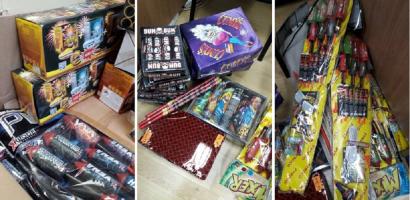 Peste 2.700 de petarde şi baterii de artificii interzise, confiscate de politistii bihoreni