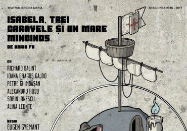 """""""Isabela, trei caravele şi un mare mincinos"""" – o noua premieră a Trupei Iosif Vulcan, in stagiunea actuala"""