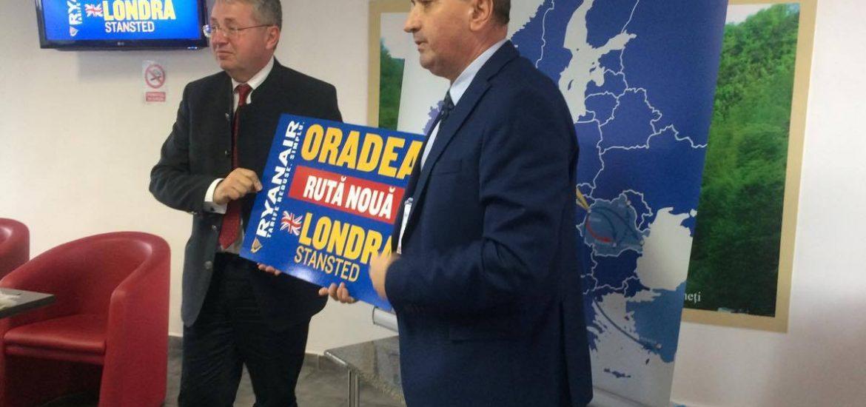 Aeroportul Oradea si RyanAir anunta o noua ruta, Oradea – Londra, cu o frecventa de 3 zboruri pe saptamana