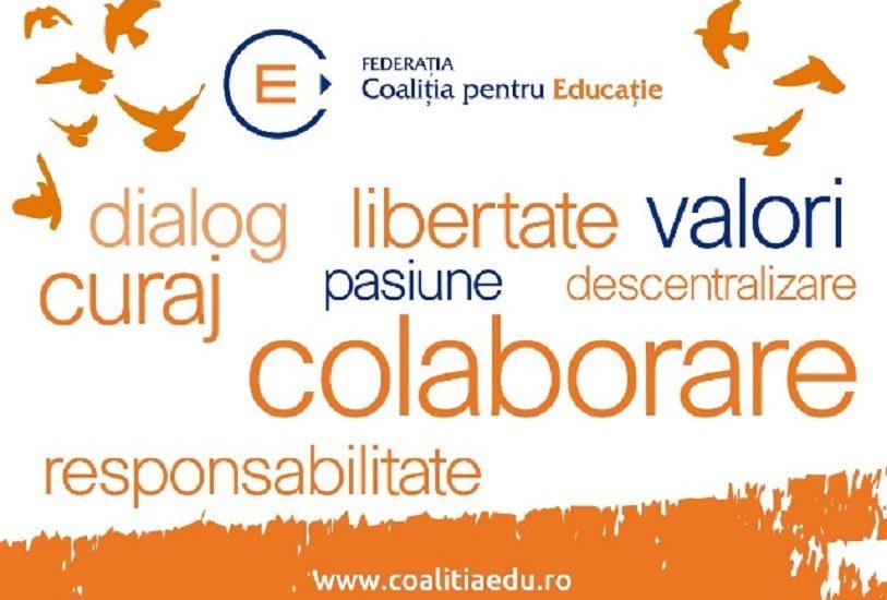 Coalitia pentru Educatie atrage atentia asupra unor cerinte necesare in cadrul proiectelor de programe scolare pentru gimnaziu