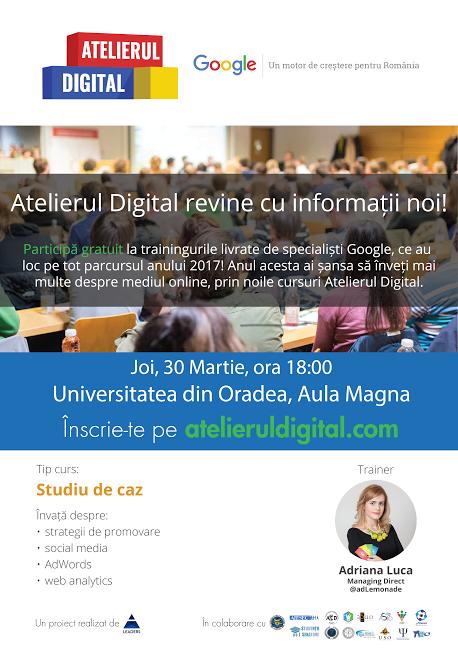 Atelierul Digital Google Oradea