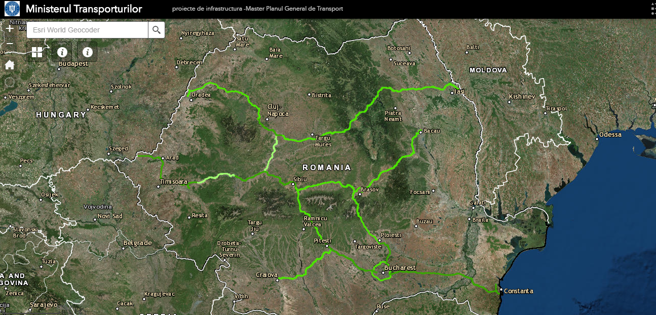 Autostrada Transilvania harta interactiva