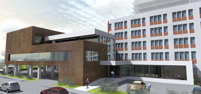 Spitalul Judetean Oradea va avea un corp nou de cladire. Cum va arata noua Unitate de Primiri Urgente (GALERIE FOTO)