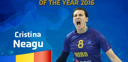 Romanca Cristina Neagu a fost declarata cea mai buna jucatoare de handbal a lumii, in 2016