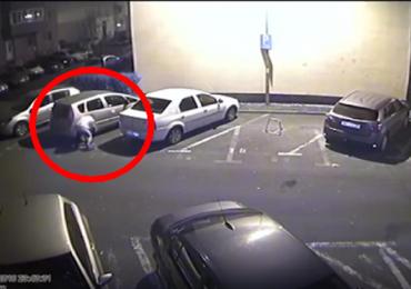 Individ prins de politistii oradeni, dupa ce a taiat mai multe cauciucuri, ale unor masini din Oradea