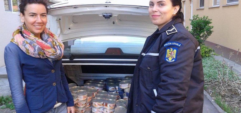 Politia Locala Oradea a donat alimente cantinei sociale a Asociatiei Caritas Eparhial