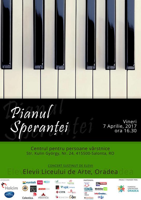 Pianul sperantei Bursa Talentelor Oradea