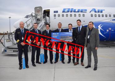Cursa Oradea – Torino, de pe Aeroportul Oradea a fost anulata. Cand se va relua acest zbor