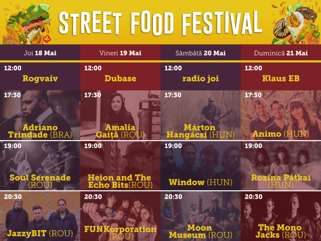 Concerte Street Food festival Oradea 2017