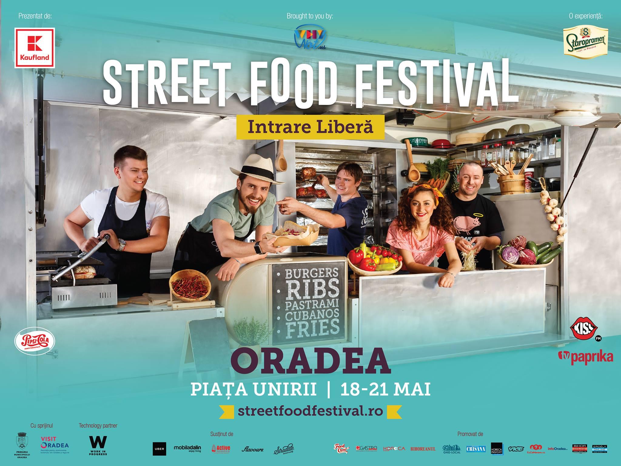 Street Food Festival Oradea 2017 - 18-21 mai Piata Unirii