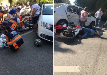 UPDATE! Accident fatal pe str. Transilvaniei. Un motociclist a decedat in urma unui impact cu un autoturism (FOTO)
