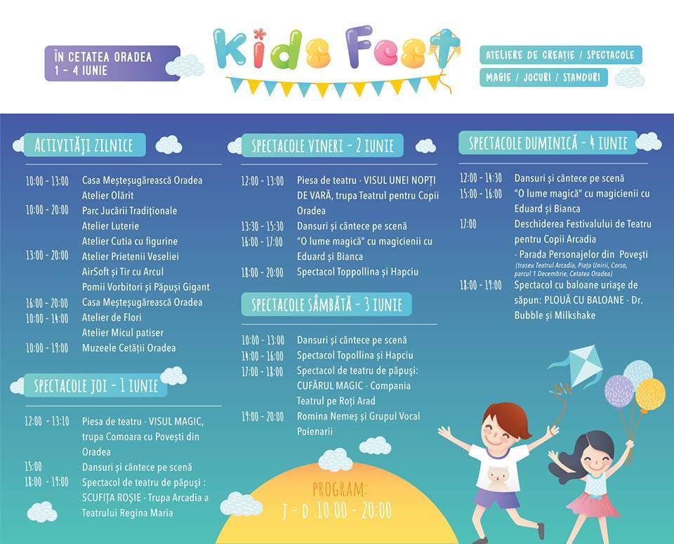 program Kids Fest Oradea