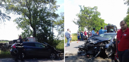 Accident grav intre Salonta si Oradea, in aceasta dimineata, in apropiere de Madaras (FOTO)
