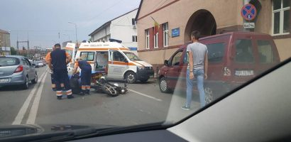 Motociclist accidentat pe Dimitrie Cantemir (FOTO)