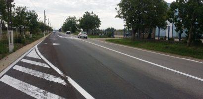 Primăria Oradea a lărgit un tronson al drumului spre Sântandrei cu încă o bandă de circulație