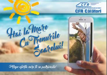"""CFR Calatori lanseaza, incepand de azi, """"Trenurile Soarelui"""". Cu ce pot ajunge oradenii la mare"""