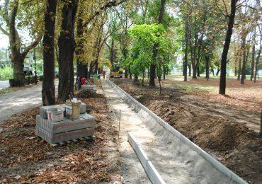 Pista de alergare sintetica din Parcul Bratianu, realizata din taxa de gunoi si fara a afecta arborii din parc