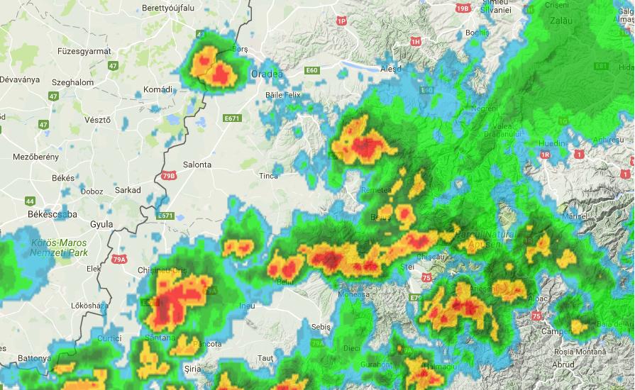 Avertizare! COD PORTOCALIU de vijelii, ploi abundente si grindina pentru judetul Bihor