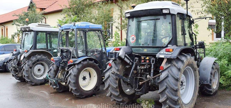 3 tractoare furate din Italia, confiscate de politistii de frontiera bihoreni, in Bors