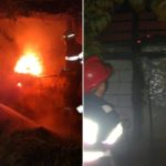 Incendiu violent la un adapost de animale in localitatea Teleac