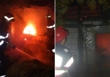 Incendiu violent la un adapost de animale in localitatea Teleac