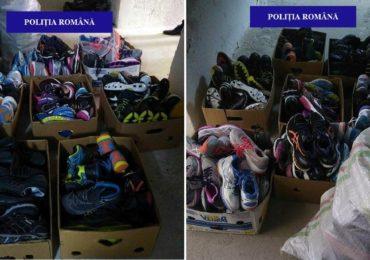 138 de perechi de încălțăminte sport, de diferite mărci, fara acte, confiscate de politistii bihoreni