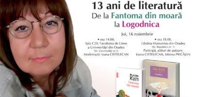 Doina Ruști, celebra voce feminina a literaturii contemporane, isi va intalni cititorii la Oradea