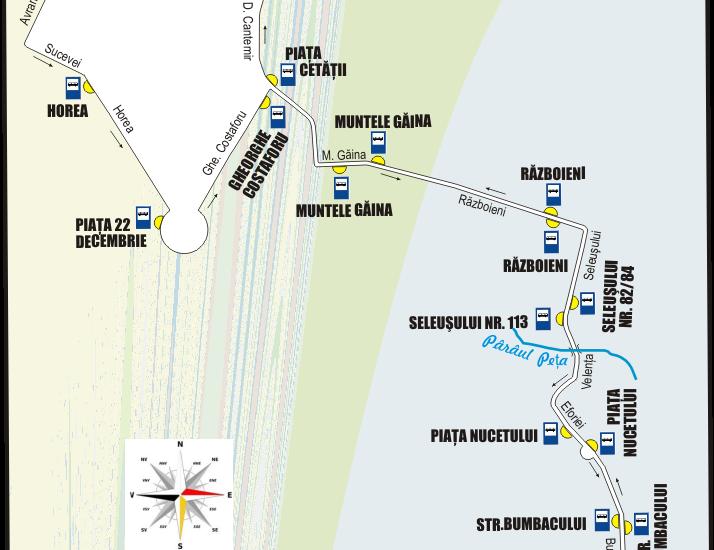 Schita traseu Linia 12 Oradea