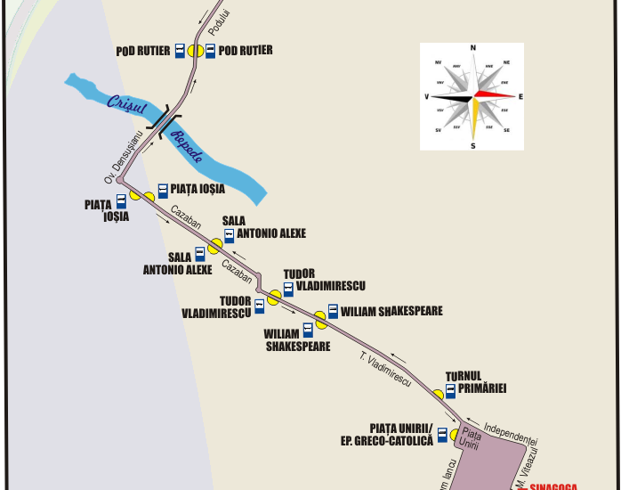 Schita traseu Linia 14 Oradea