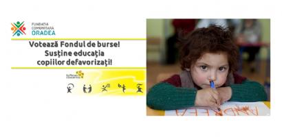"""Voteaza proiectul oradean """"Fondul de Burse"""" si ajuta 20 de copii defavorizati. Arata ca esti oradean"""