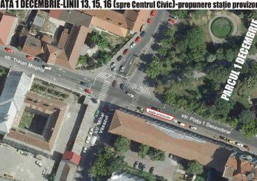 Atentie, se muta statia de autobuz de pe str. Mihai Viteazul