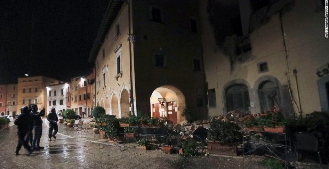 Doua noi cutremure puternice in centrul Italiei. Bilant provizoriu – zeci de raniti. FOTO