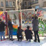 Secessionul din Piata Unirii in viziunea elevilor de la Liceul de Arte din Oradea. FOTO