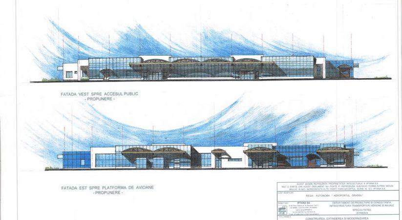 CJ Bihor incearca, din nou, sa atribuie contractul pentru realizarea noului terminal la Aeroportul Oradea
