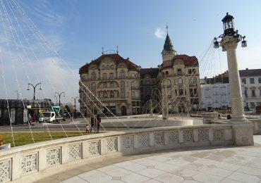Pregatiri Piata Unirii Targ de Craciun 2016