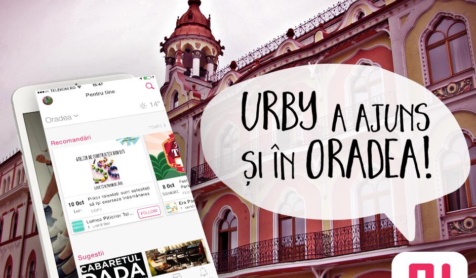 Aplicatia Urby a fost lansata si in Oradea. UrbyApp poate fi descărcată gratuit din Apple Store și Google Play