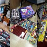 Peste 1.800 de petarde de diferite tipuri, au fost confiscate de polițiștii salontani.
