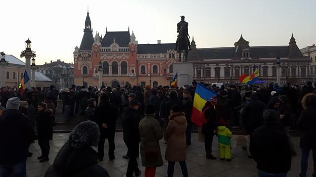 500 oradeni protest Piata Unirii 29.01.2017