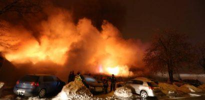 Incendiu violent in clubul Bamboo din Bucuresti. 38 de persoane spitalizate. FOTO